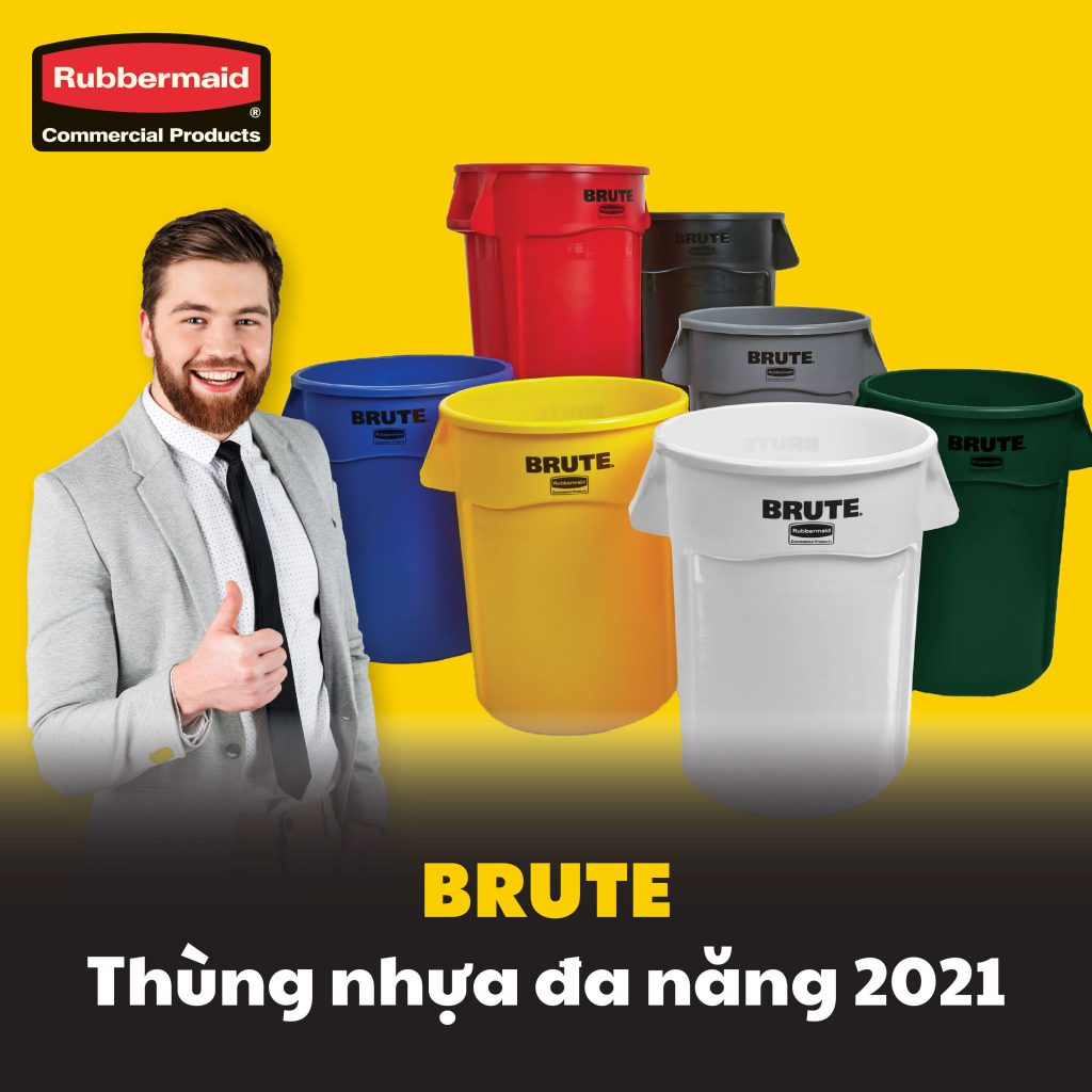 Thùng nhựa Brute Rubbermaid