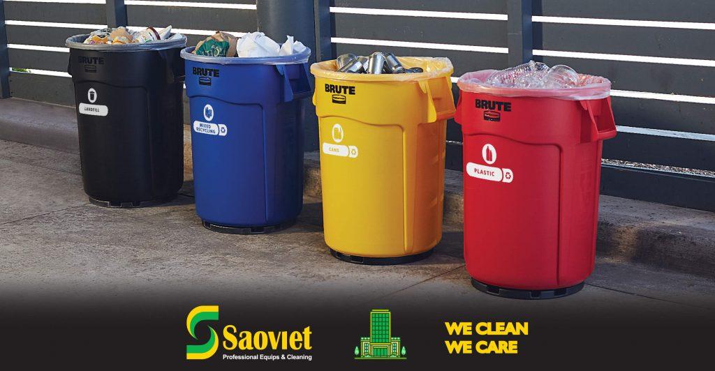 Thùng nhựa brute đựng rác