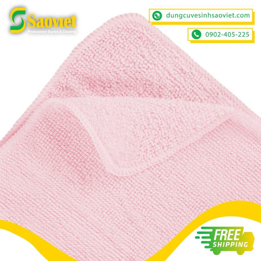 khăn lau light microfiber màu hồng