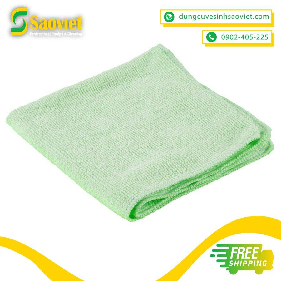 khăn lau light microfiber màu xanh