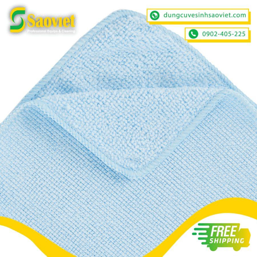 khăn lau light microfiber xanh dương