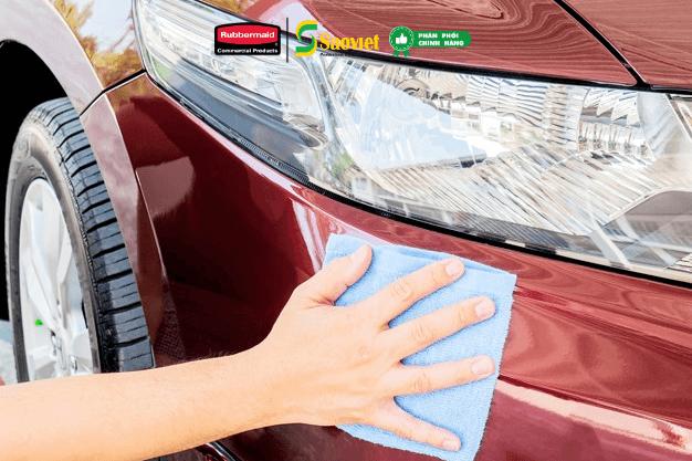 Khăn lau microfiber rubbermaid dùng cho ô tô