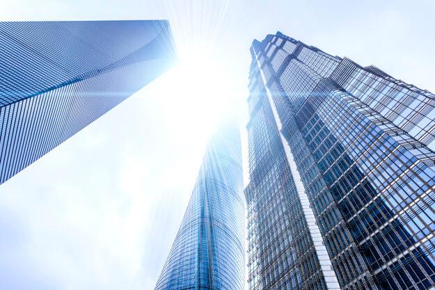 tòa nhà kính cao tầng