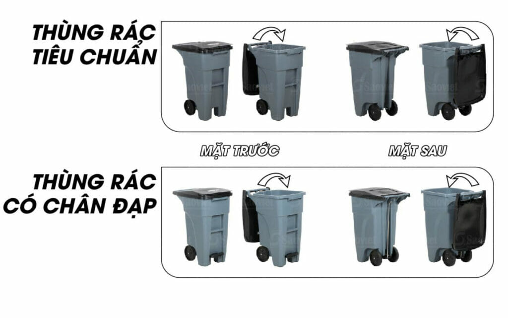 thùng rác hai bánh lớn