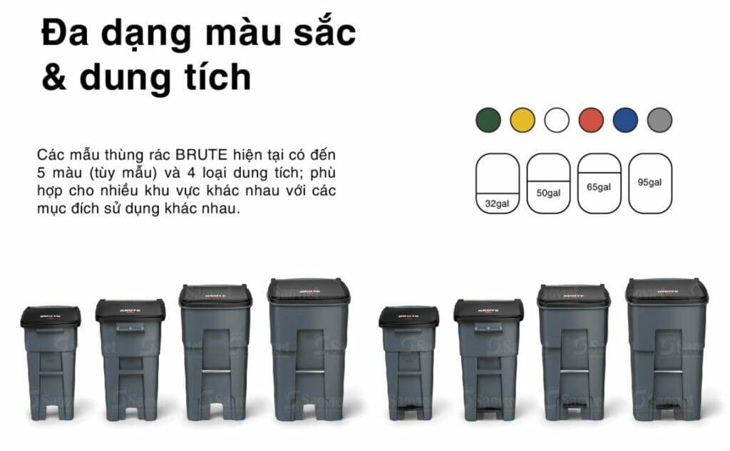 thùng rác nhựa Brute