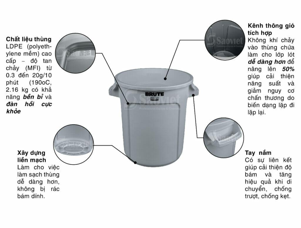 thùng nhựa tròn cấu tạo
