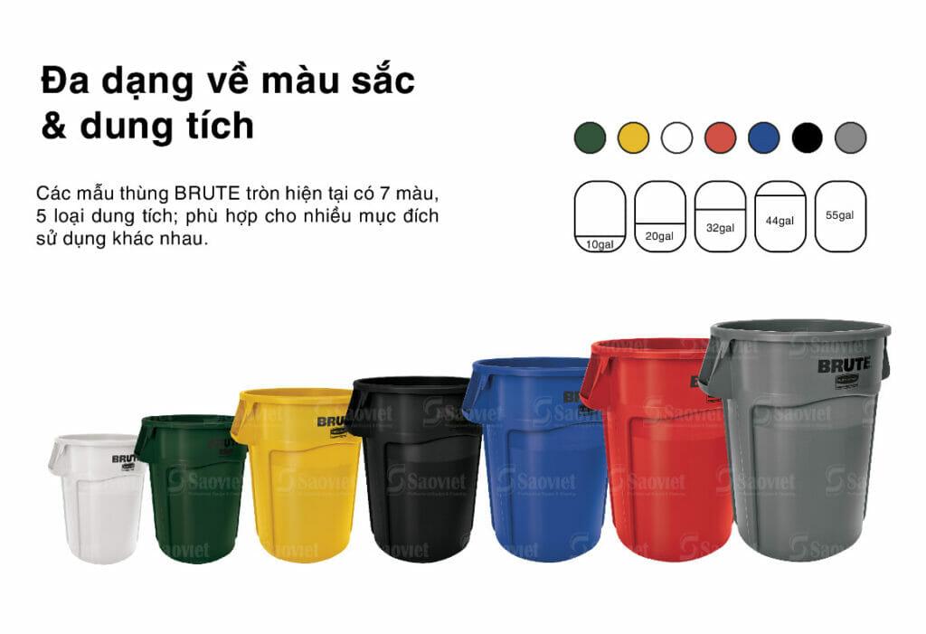 thùng nhựa nhiều màu